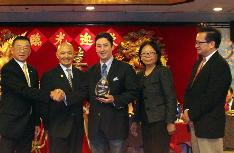 Cambridge City Councilor Neland Cheung was honored at the CACA Boston Gala